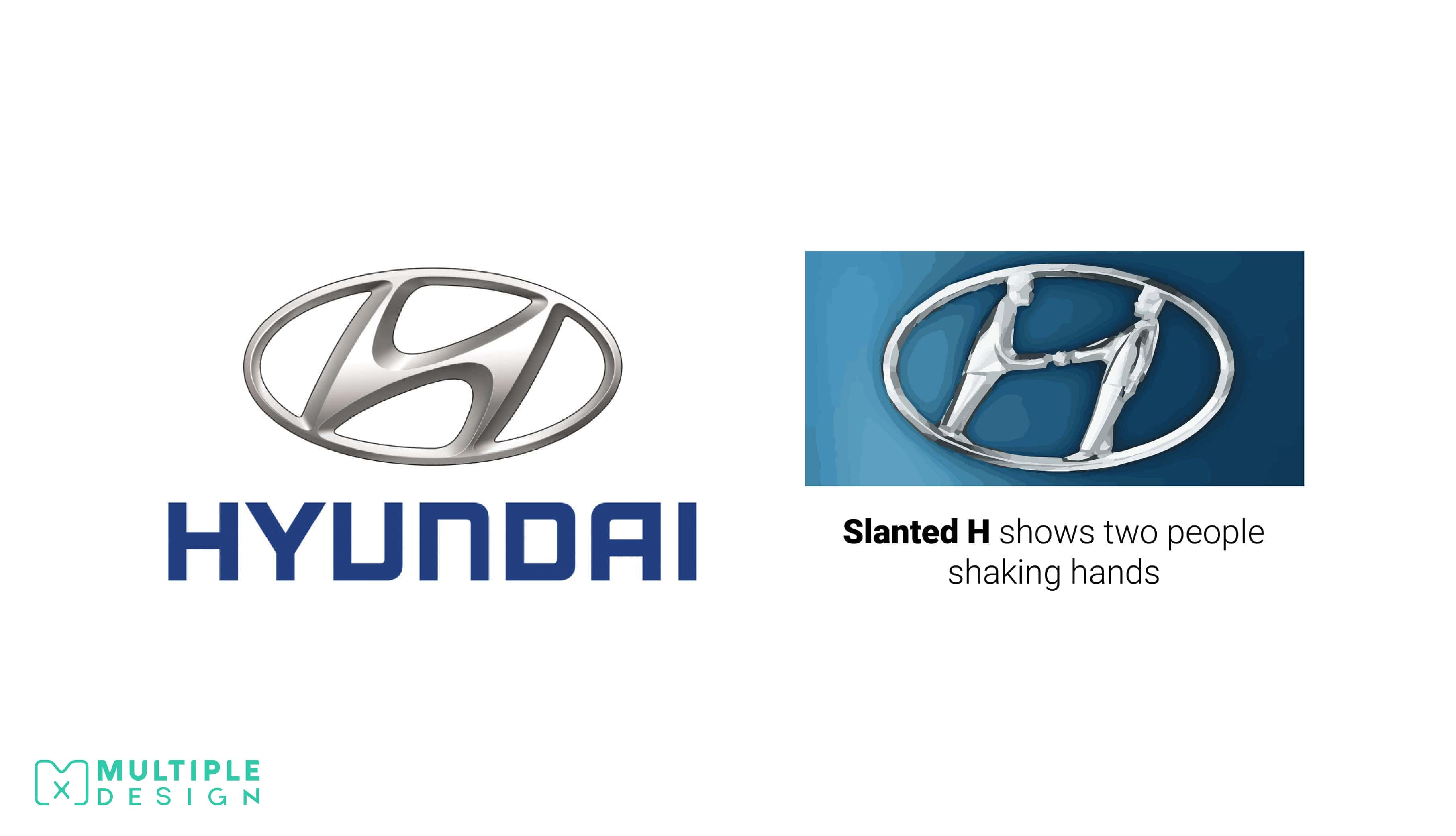 Hyundai Logo, Shaking hands, company and customer