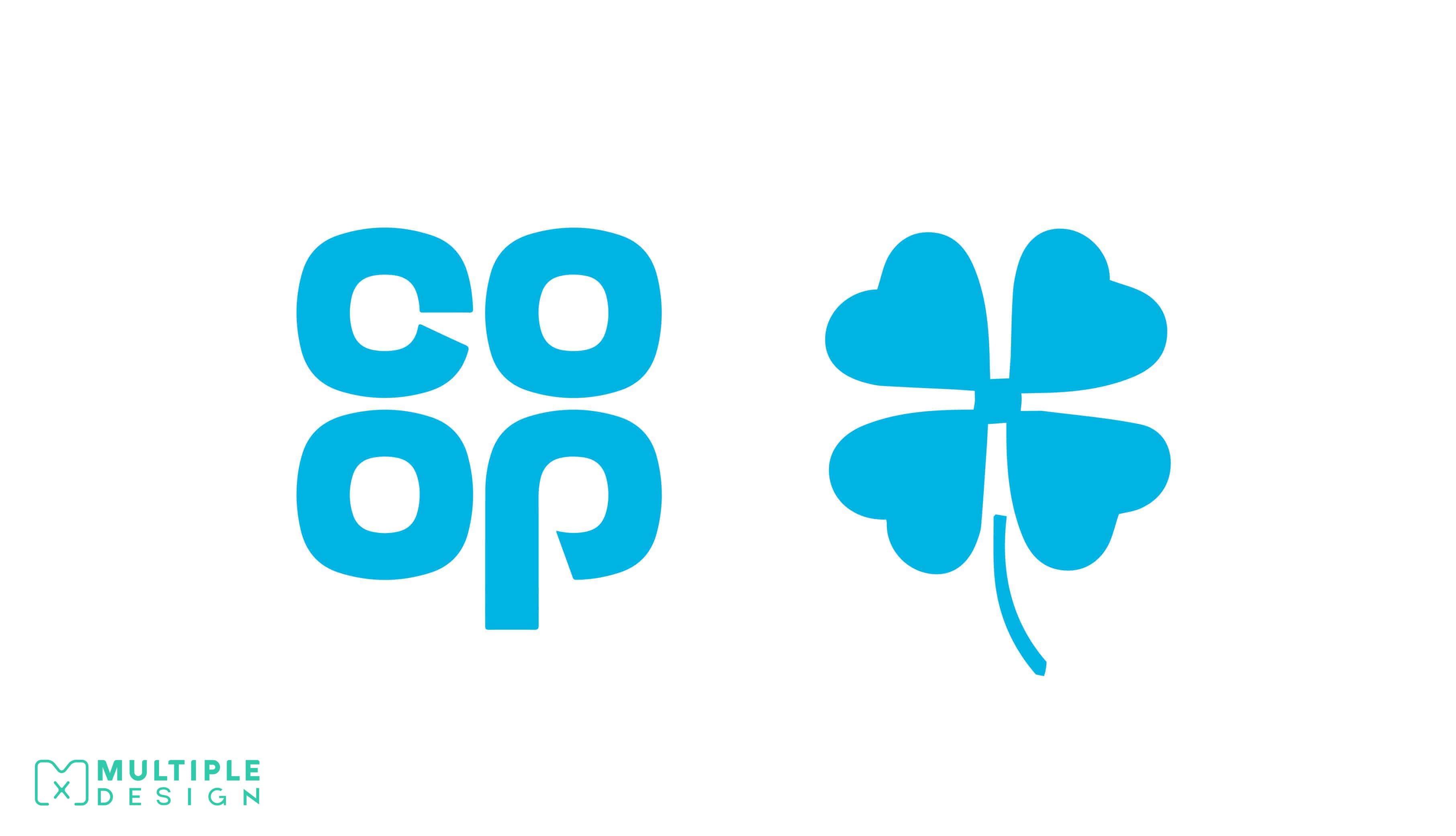 co-operative Logo, clover leaf