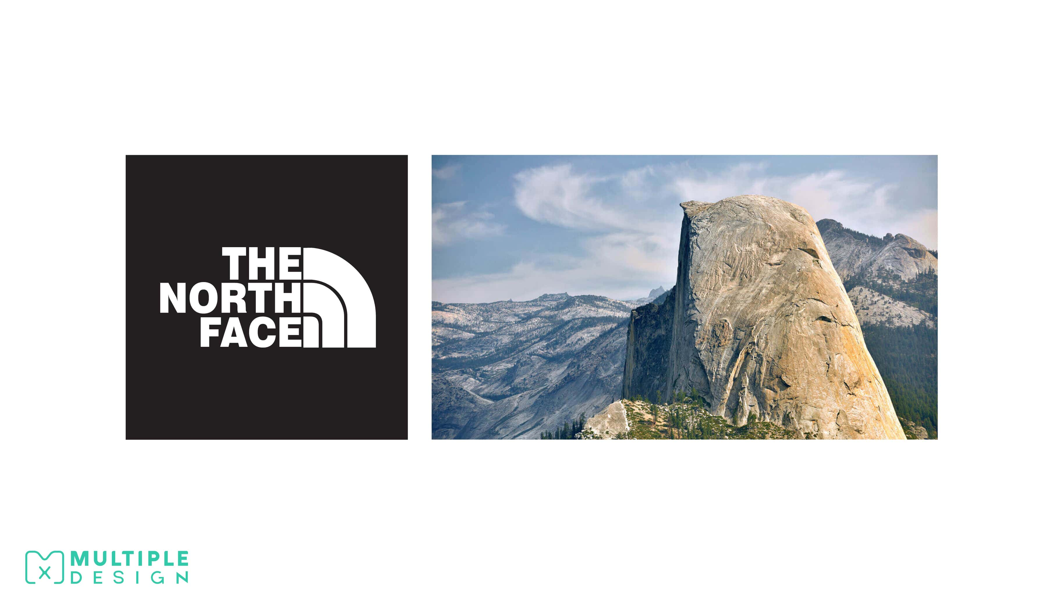 The North Face logo, Half Dome Rock Formation, Yosemite Nations Park