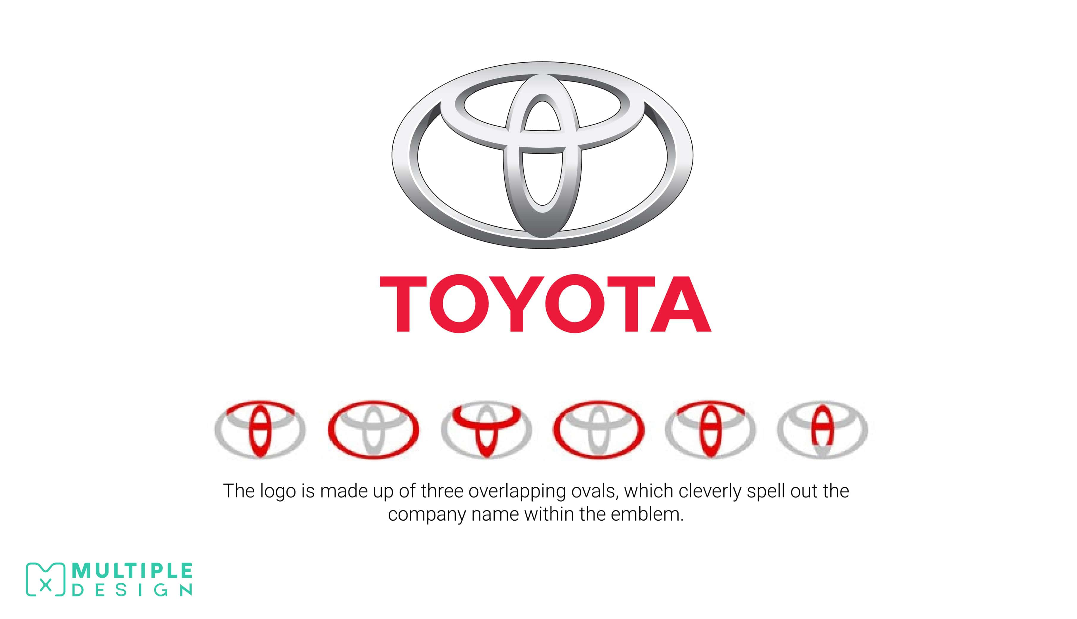Toyota logo, spells out name
