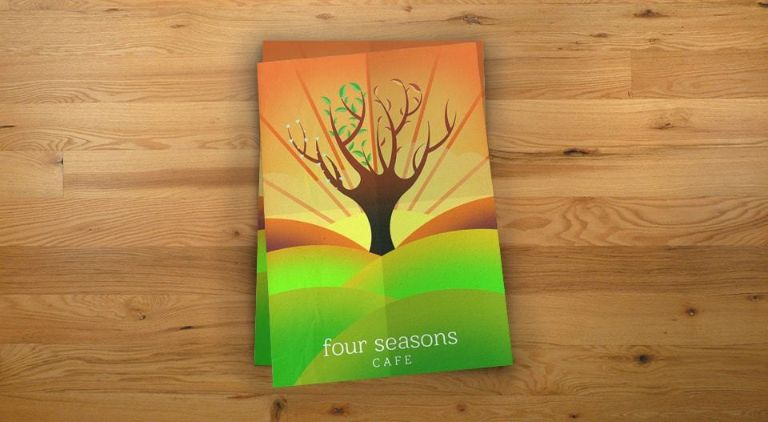 Four Seasons Cafe - Flyer - Multiple Graphic Design