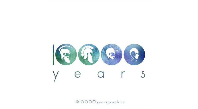 10000 Years - Logo - Multiple Graphic Design