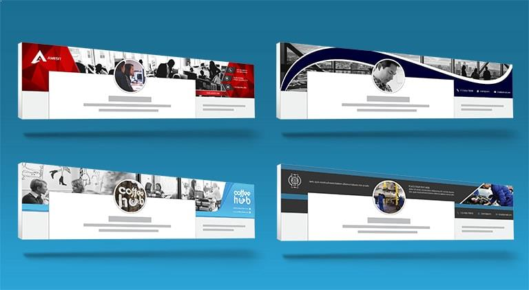 LinkedIn Banners - Multiple Graphic Design