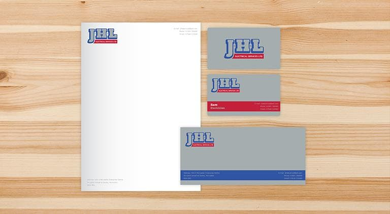 JHL Electrical - Letterhead - Multiple Graphic Design