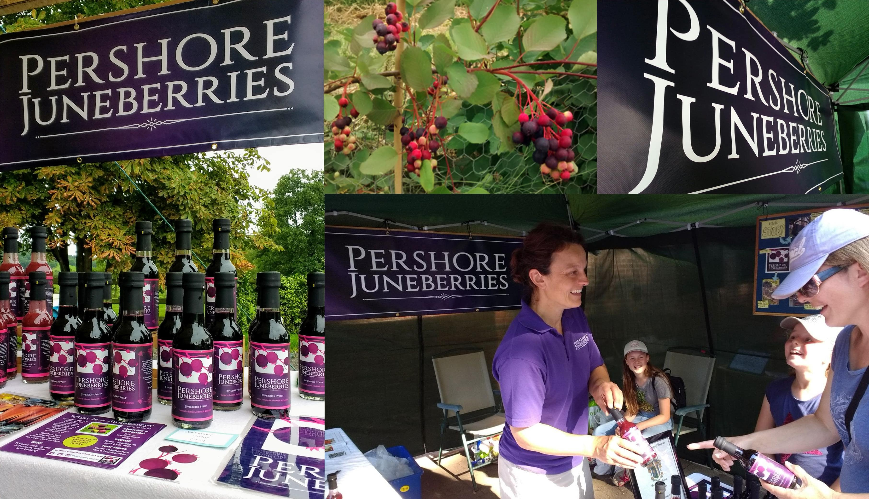 Pershore Juneberries - Eyelet Banner - Multiple Graphic Design