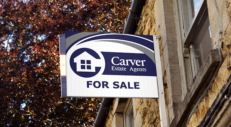 Carver Estate Agents - Branding - Multiple Graphic Design