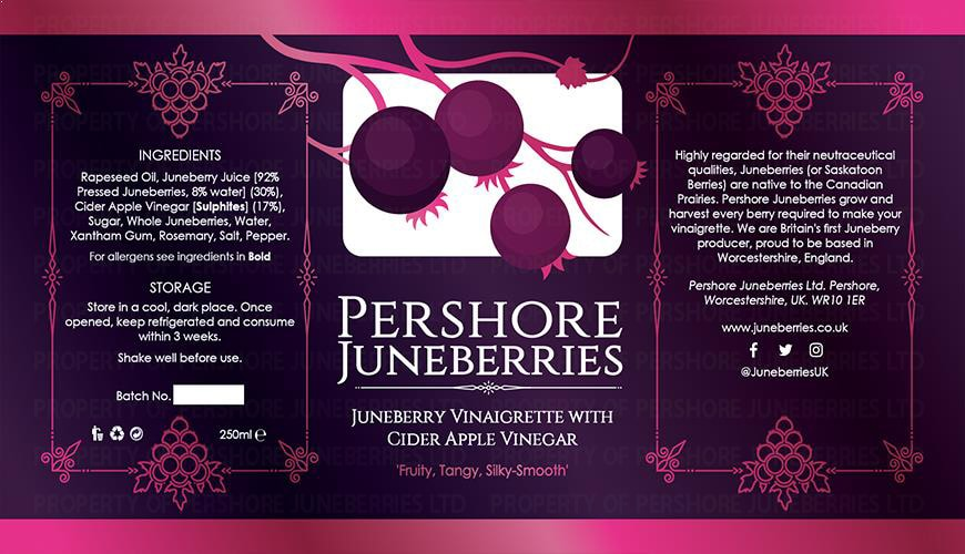 Pershore Juneberries - Labels