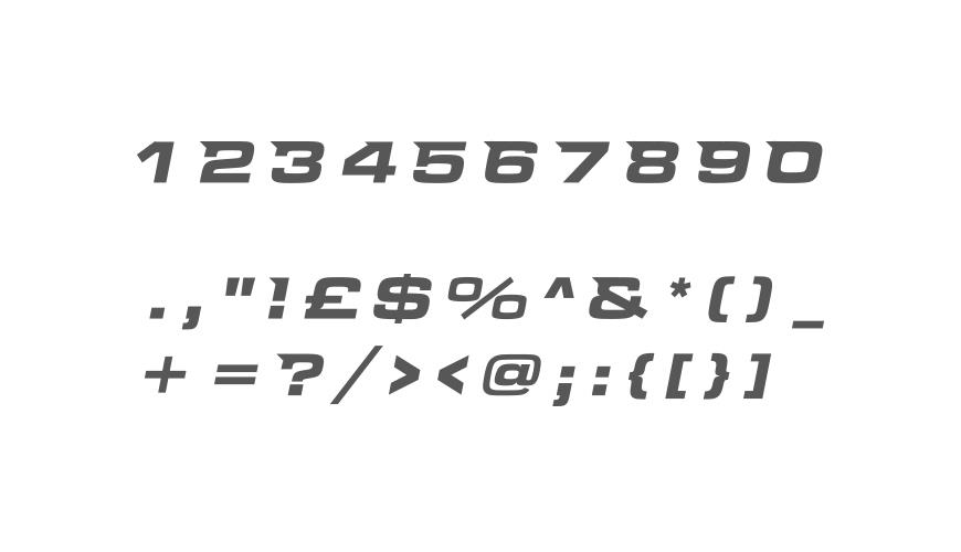 INDRA - Font Characters