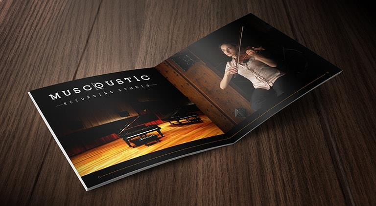 Muscoustic - Brochure - Multiple Graphic Design