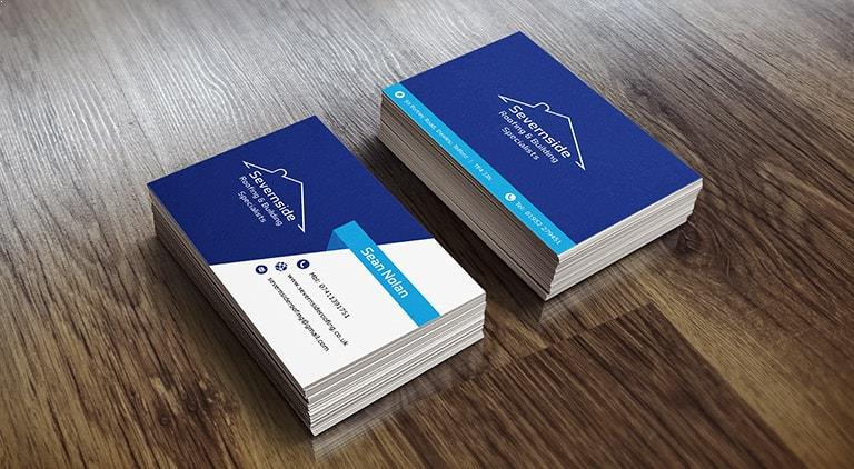 Severn Side Roofing - Business Cards - Multiple Graphic Design